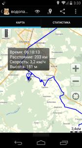 Просмотр информации о точке на карте